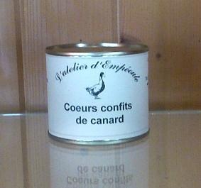 Coeurs confits de canard 110 g