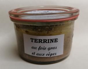 Terrine foie gras et cepes weck